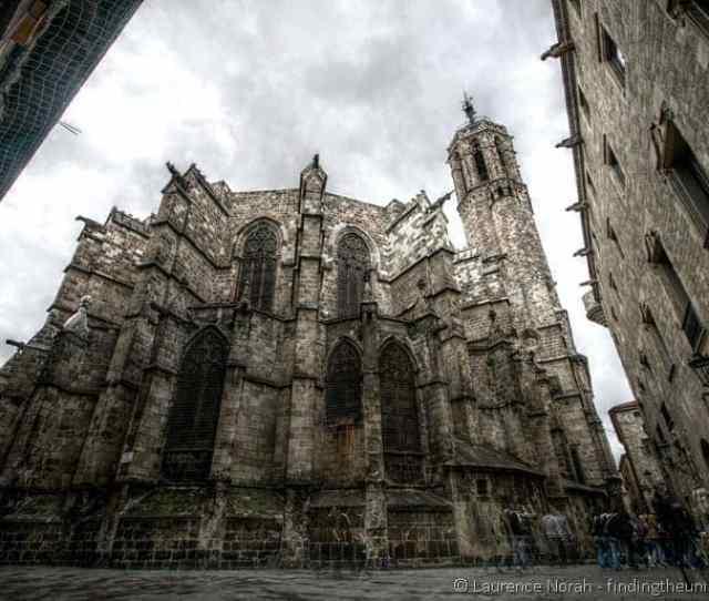 Gothic Quarter Church Barcelona