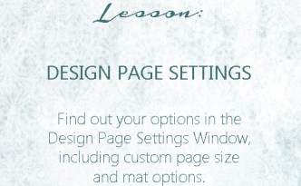 Silhouette Studio - Design Page Settings