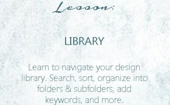 Silhouette Studio Lesson - Library