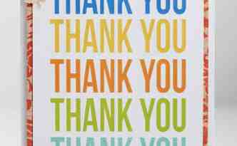 Print and Emboss Thank You Card by Kelly Wayment for Silhouette