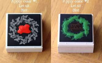 Apply multiple colors to Mint stamp