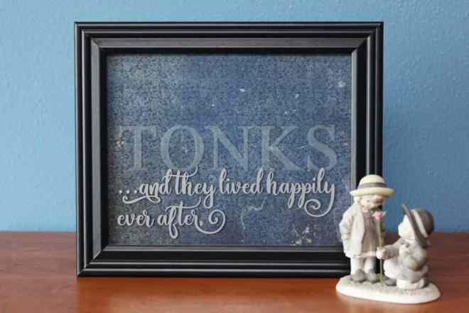Etched Glass Wedding Frame - Finding Time To Create