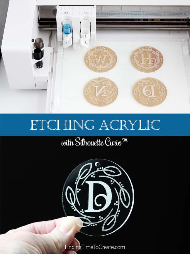 Try Etching Acrylic with Silhouette Curio