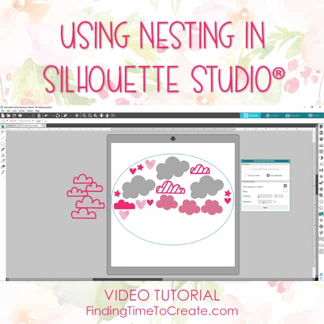 Using Nesting in Silhouette Studio - video tutorial