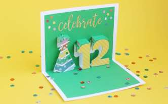 Pop-Up Birthday Card with Silhouette Studio - Finding Time To Create