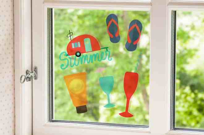 Printable clear window cling
