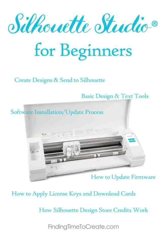 Silhouette Studio For Beginners Finding Time To Create