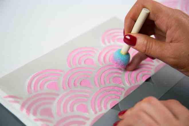 Stencil material - non adhesive