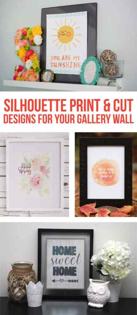 Print & Cut Gallery Wall Roundup