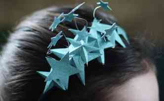 Star headbands for New Year's - Finding Time To Create