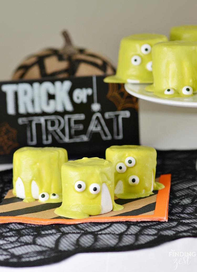 Halloween Monster Marshmallows