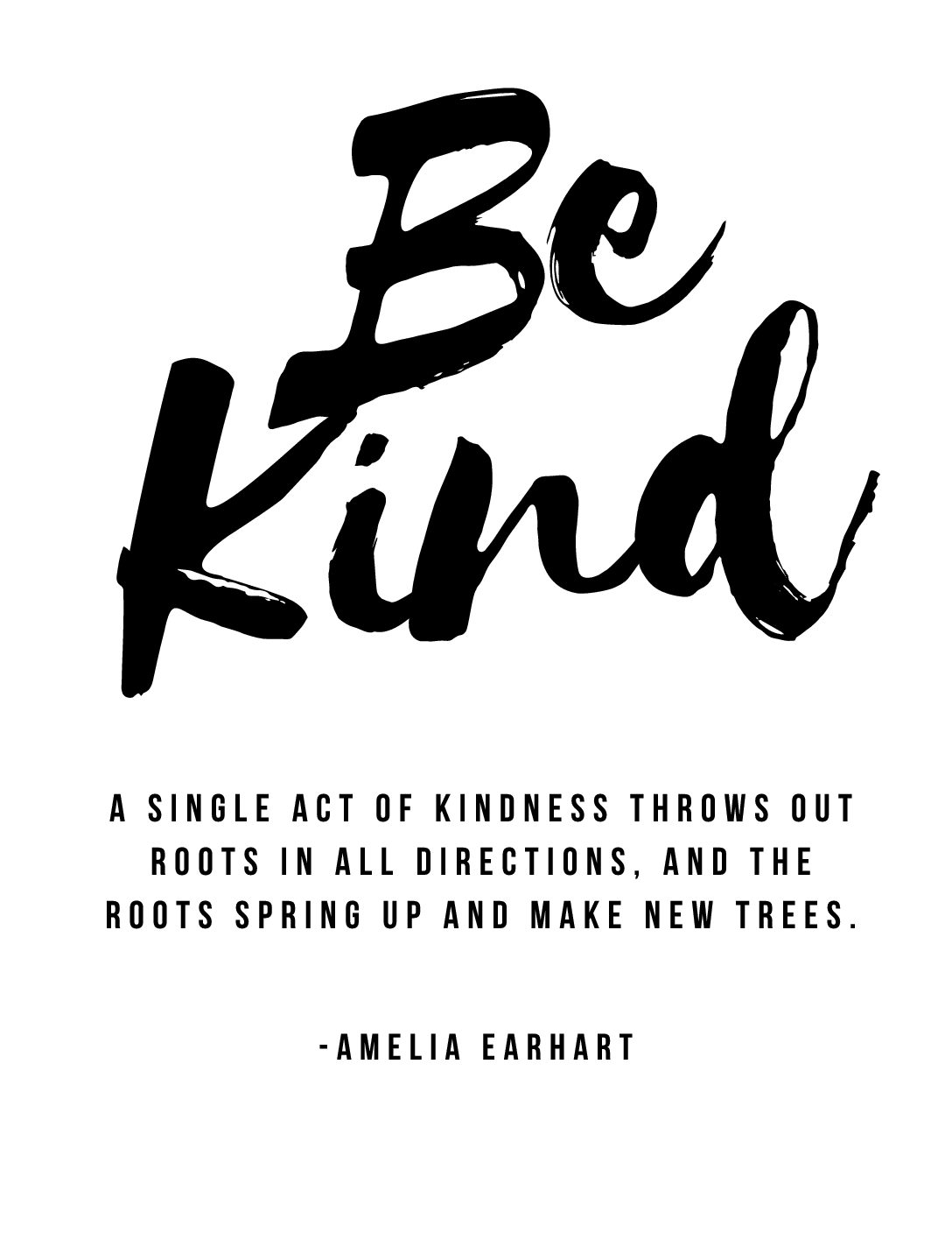 Be Kind Amelia Earhart Quote Printable