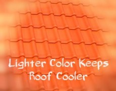 light color roof tiles