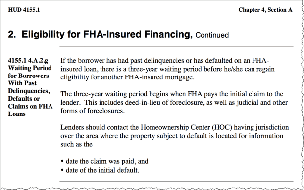 FHA Eligible after Foreclosure