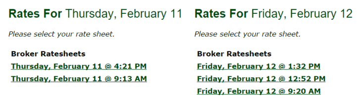 5 Rate Changes in 2 Days