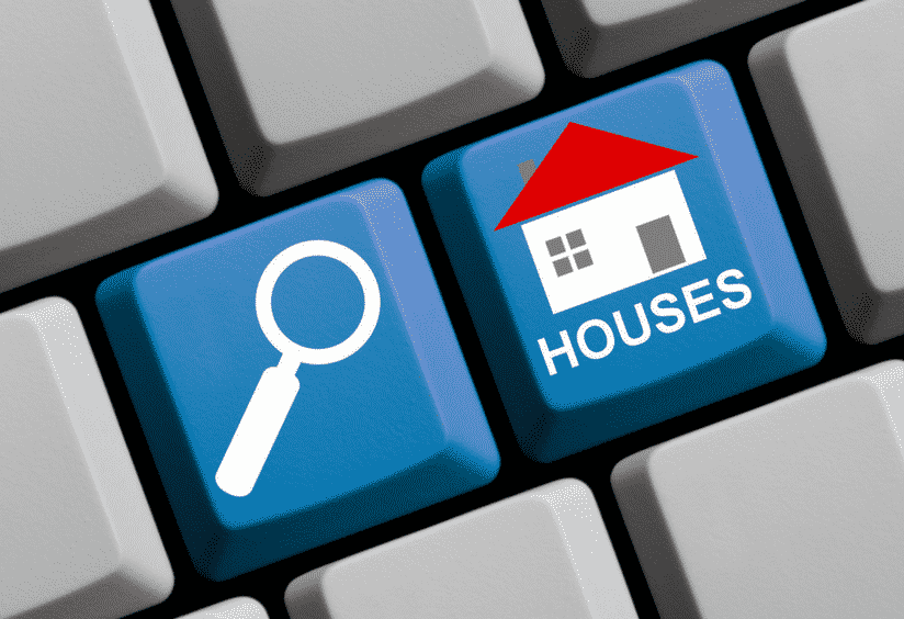 Searching homes for sale online