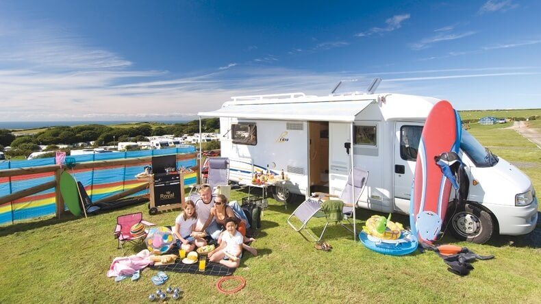 Golden Coast Electrict Motorhome Pitch