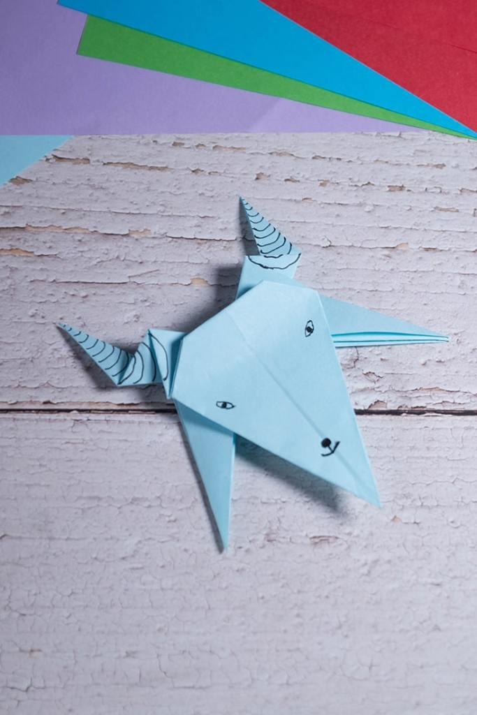 Origami Goat Face