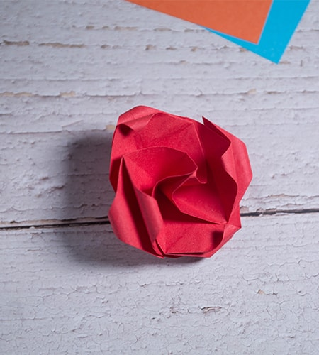 Origami Twisty Rose Folding Instructions | 500x450