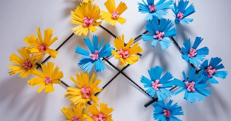 hanging paper flowers diy