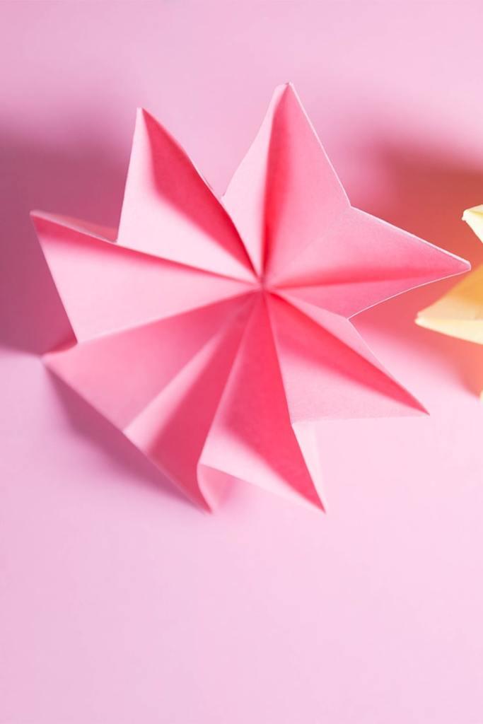 Origami 8-Petal Flower