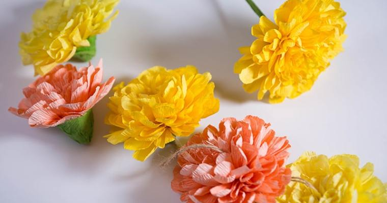 how to make paper marigolds