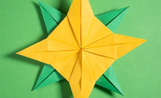 origami 8 pointed star