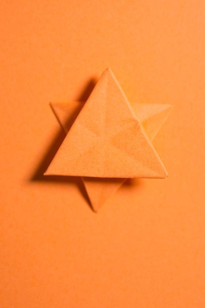 Easy Origami Star of David