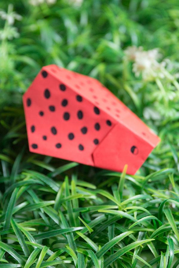 Easy Origami Ladybug