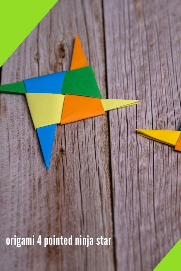 origami 4 pointed ninja star