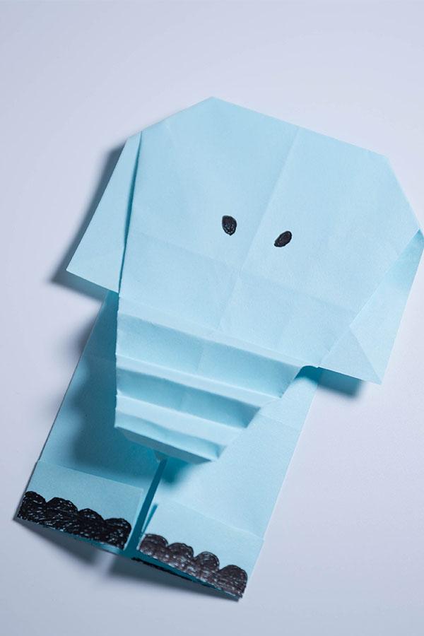 Origami Elephant Head and Body