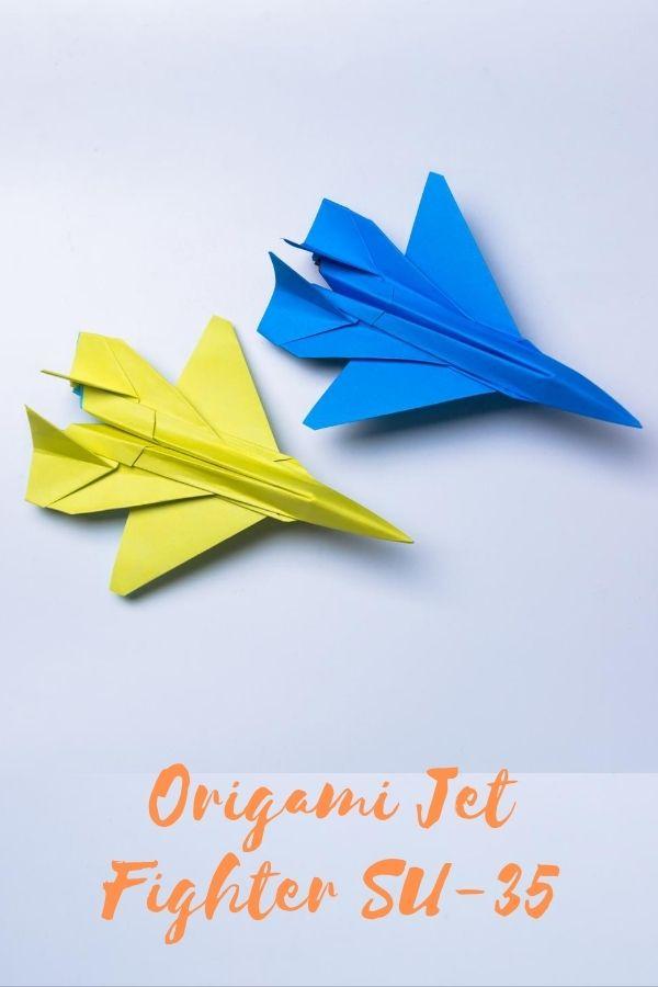 Easy Paper Plane Origami Jet Fighter SU-35