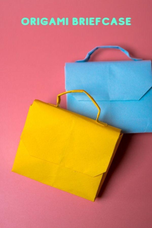How do you make a origami briefcase