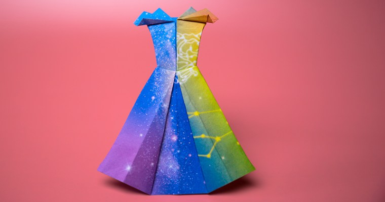 How do you make a paper dress step by step