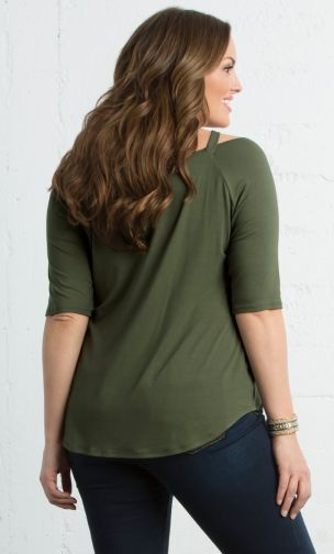 Destination Daydream Top, Olive You back