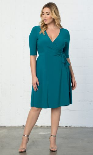 kiyonna plus size wrap dress