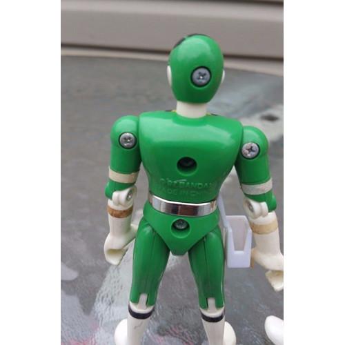 Bandai Power Rangers Ranger Figures 1996, 1997 lot 3 green