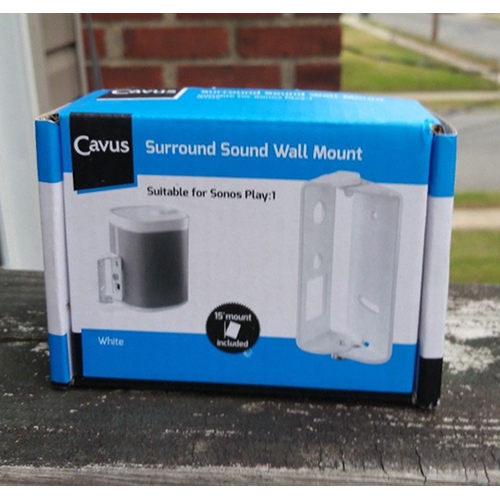 Cavus Surround Sound Tilt and Swivel Wall Mount - Wall bracket for Sonos Play1 SN1TB2