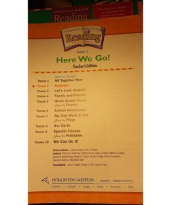 Houghton Mifflin Reading Teachers Resource, Edition-- Homeschool lot 8 index