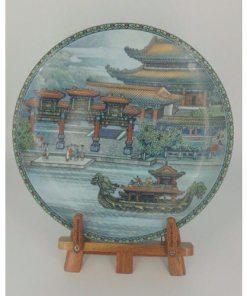 Imperial Jingdezhen Porcelain Oriental Collector Plates Summer Palace 1988