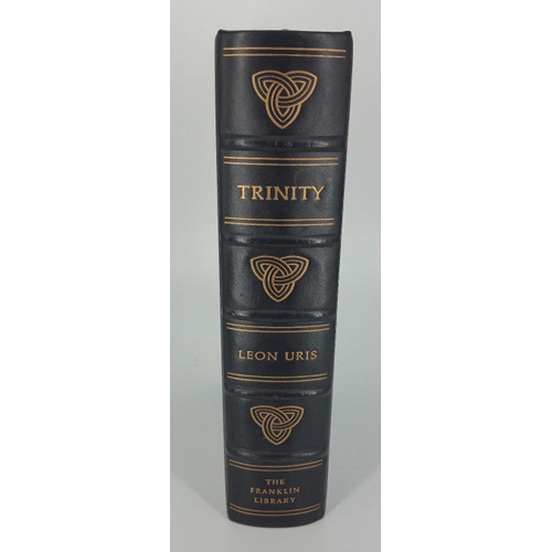 Leon Uris Trinity Limited First Edition Society, 1976 Franklin Library Leather