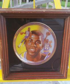 MAGIC JOHNSON GOLD EDITION PLATE LOS ANGELES LAKERS BY SPORT IMPRESSION 1991