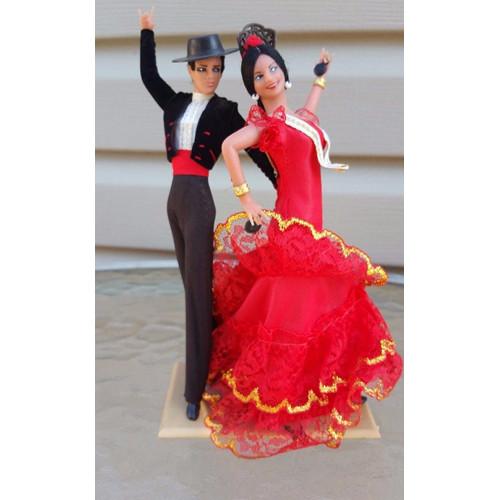 Marin Chiclana Vintage Flamenco Dancers Man & Woman 8 Dolls Spain España