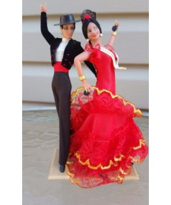 Marin Chiclana Vintage Flamenco Dancers Man & Woman 8 Dolls Spain España