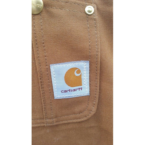 Men's Carhartt Carpenter Zip Overall Wheat 100% Cotton 34x32 label