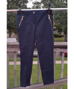 Michael Kors women's New Navy Basics Pants size 8 MSRP $130