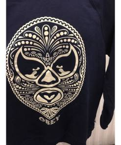 OBEY NAVY BLUE SWEATSHIRT LONG SLEEVE SZ-XL