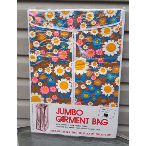Retro Jumbo Garment Bag Closet Storage Floral Bag