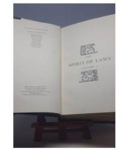 The Spirit of Laws by Montesquieu - VOL 1 Legal Classics Library (Gryphon)inner