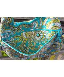 Vera Bradley Crossbody Quilted Shoulder Bag Peacock Pattern~Retired pocket